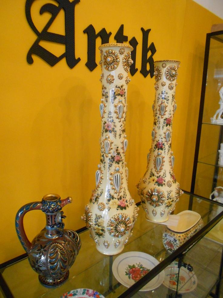 zsolnay vasen paar 79cm 1882
