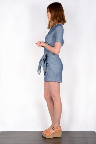 Lake Dress-Atelier Delphine. Cotton, made in USA. www.sustainlux.com