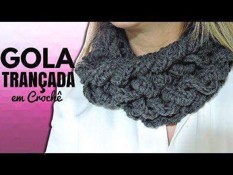 PONCHO GOLA EM CROCHÊ/ DIANE GONÇALVES - YouTube