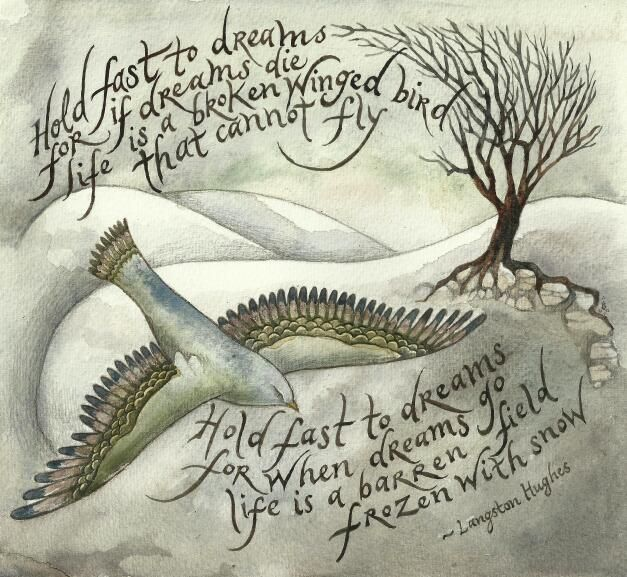 Hold fast to dreams / Poem by Langston Hughes -- may be a good picture to show after discussing imagery