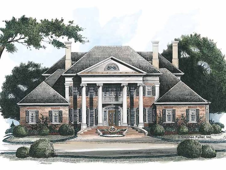 Best Dream House Images On Pinterest Home Plans Neoclassical - Neoclassical house plans