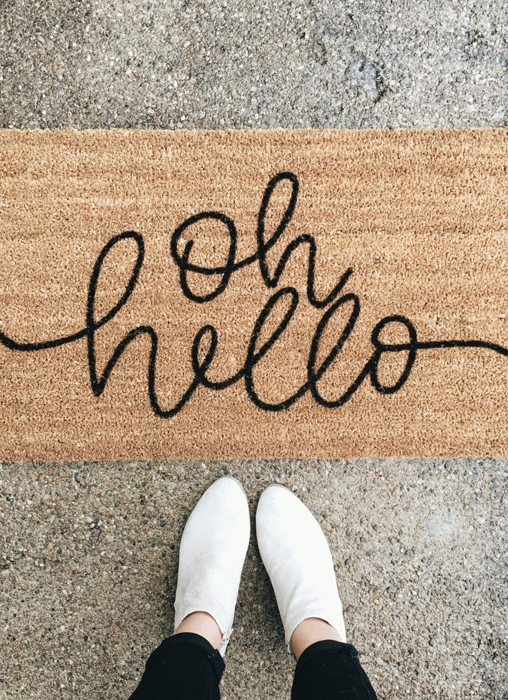 Nice to see you, too. A welcoming and modern doormat.