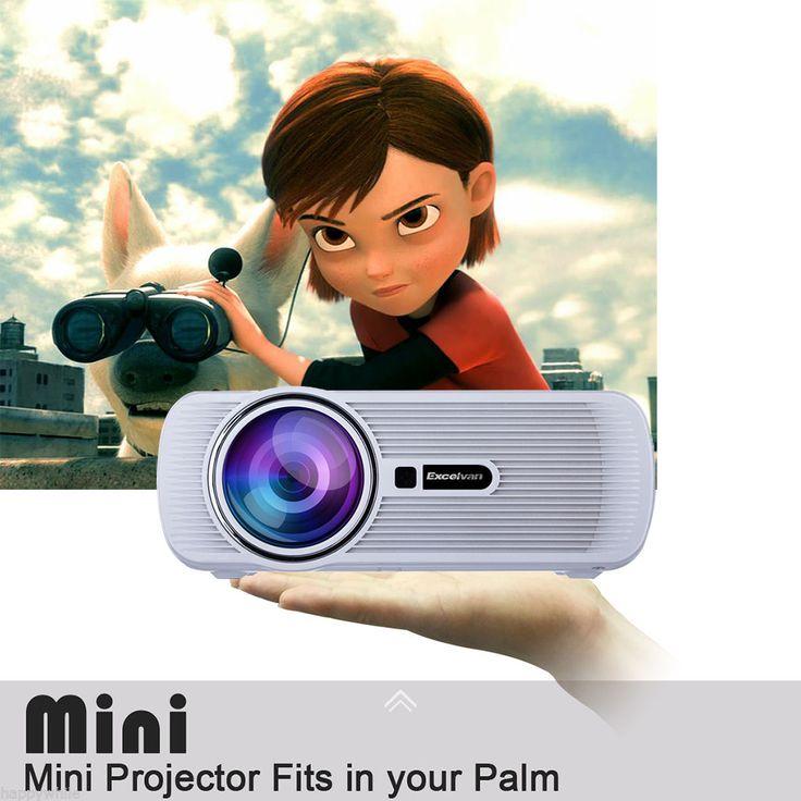 LCD 1500 Lúmenes 1080P Home Teatro Video Proyector HDMI 3D VGA USB AV TV Audio   Imagen y sonido, DVD, Blu-ray y Home Cinema, Proyectores de Home Cinema   eBay!