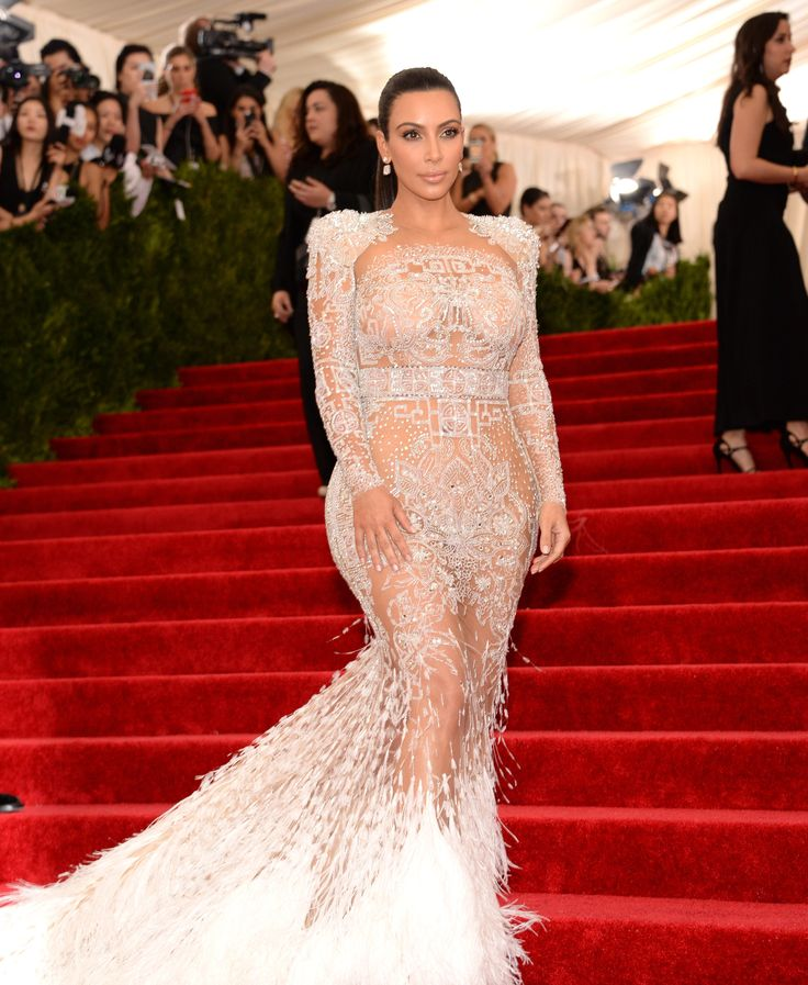 Kim Kardashian West in Roberto Cavalli at the Met Gala 2015