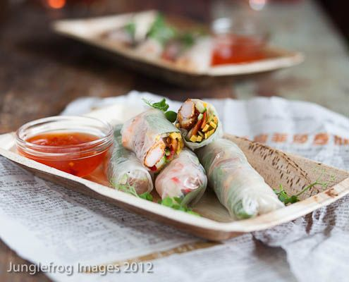 Delicious, quick and healthy springrolls which don't require much time at all and are perfect for a light summer dinner.