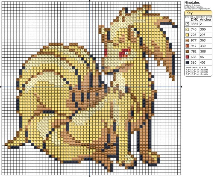Pokemon - Ninetales II by Makibird-Stitching.deviantart.com on @deviantART