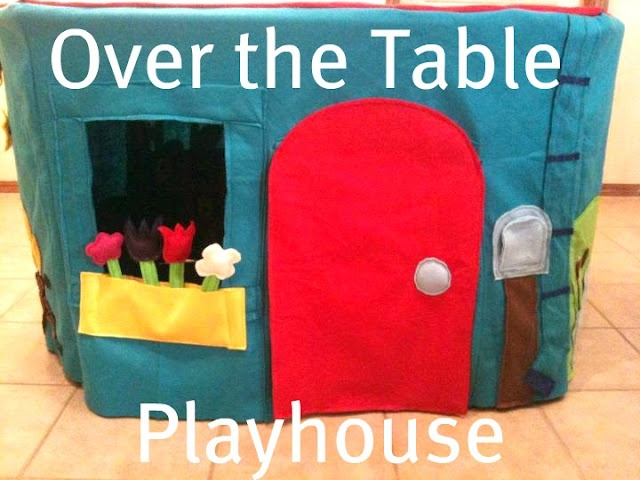 A super fun Over the Table Playhouse! Not a how-to, but includes some tips on creating your own, and lots of great ideas! Found at Beautiful Somehow