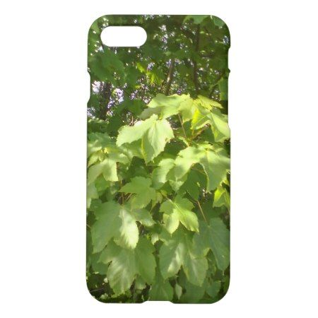 Green plant leafs iPhone 7 case - tap, personalize, buy right now!