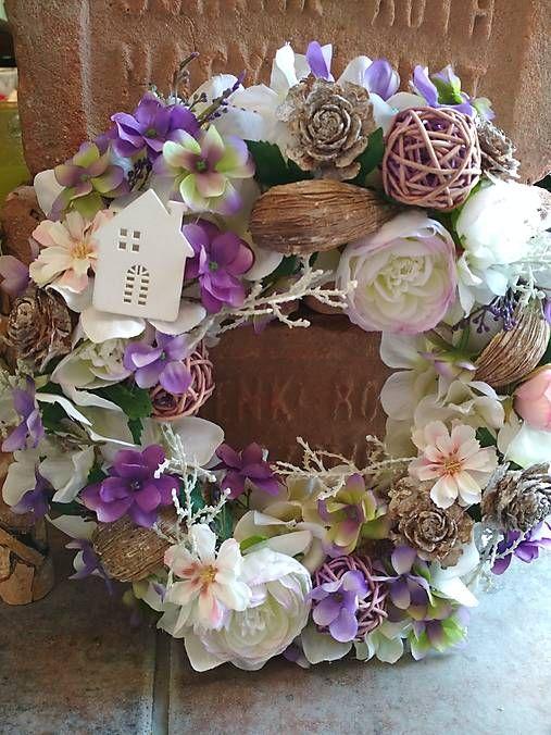 0ecc9d1e9 Veniec celoročný / kvetkocalla - SAShE.sk - Handmade Dekorácie   Wreath    Wreaths, Handmade