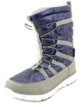 Khombu Alta Women Round Toe Synthetic Blue Snow Boot.