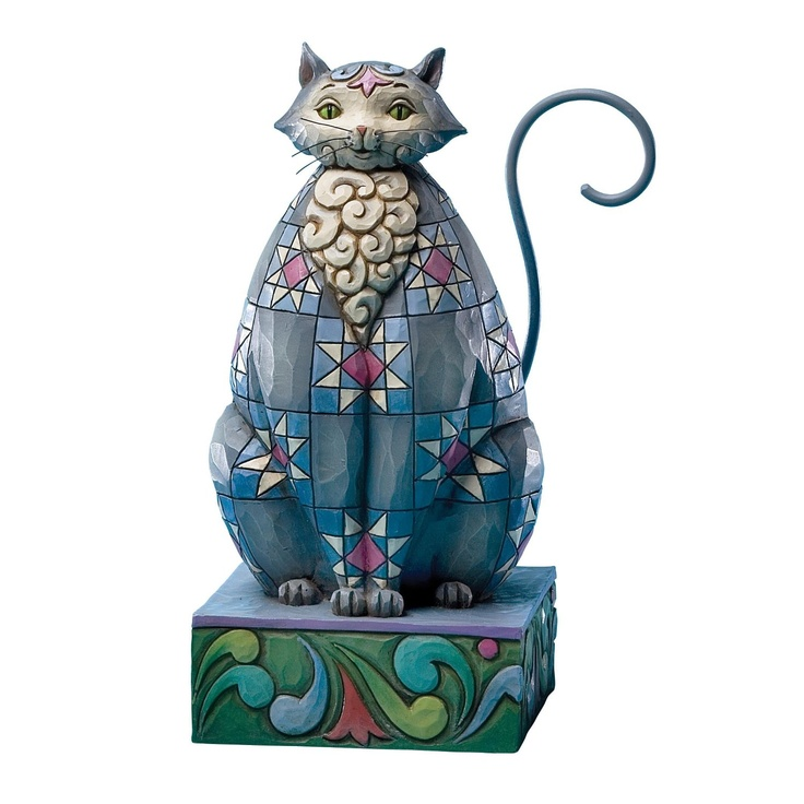 Jim Shore - Cat with Star Pattern Figurine