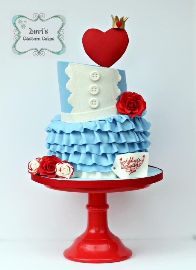 A+very+merry+Unbirthday++-+Cake+by+Lori+Mahoney+(Lori's+Custom+Cakes)+