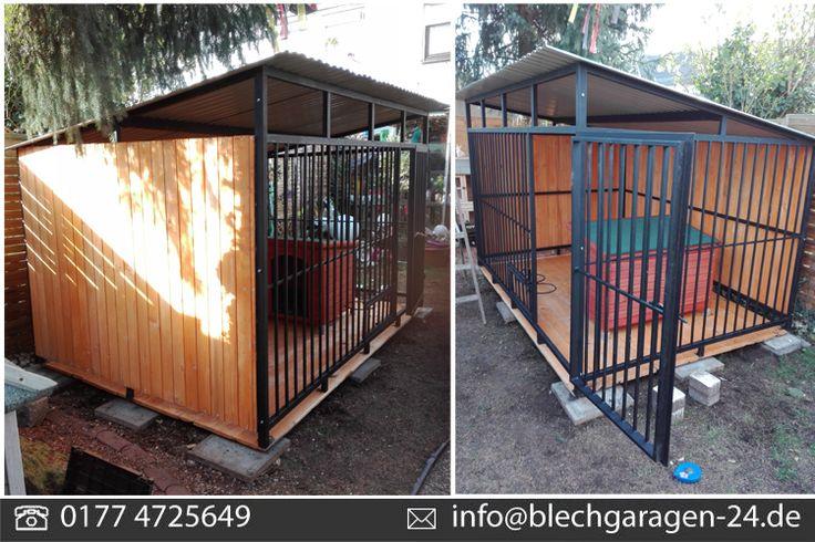 Welche Anforderungen muss ein Zwinger erfüllen?  Im Zwinger muss natürliches Tageslicht vorhanden sein und der Hund muss auch einen schattigen Platz zur Verfügung haben. Der Zwinger muss mindestens 15 Quadratmeter groß sein. Es darf keine Verletzungsgefahr für die Tiere bestehen.  http://stores.ebay.de/blechgaragendiukstal  #Zwinger #Hundezwinger #Hütte