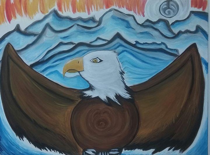 Vancouver bald eagle - Artwork by Justin Strickland