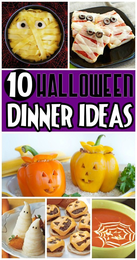 Lots of cute ideas for a Halloween-themed dinner.