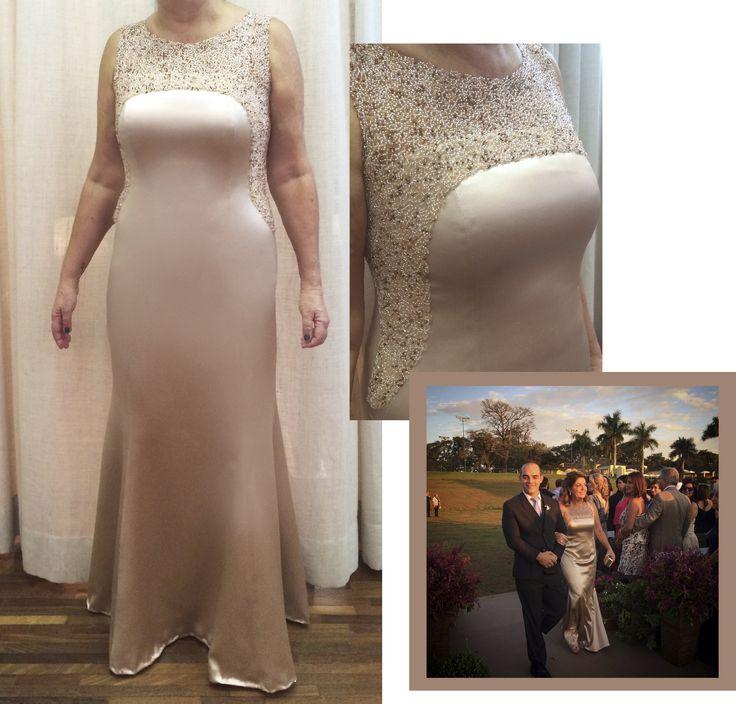 Vestido para mãe da noiva - sob medida Ateliê Esther Bauman Acquastudio São Paulo/SP