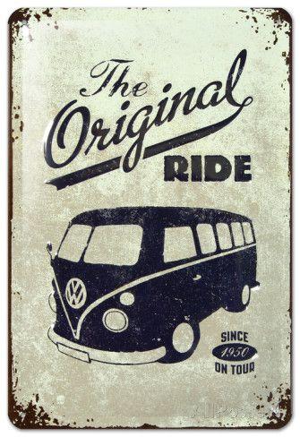 VW The Original Ride Plaque en métal sur AllPosters.fr