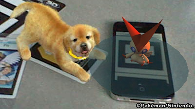 Victini and... Nintendog!