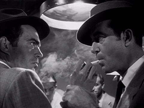 Jack Elam and John Payne in Kansas City Confidential (1952)