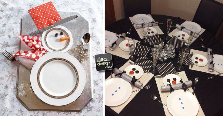 7 idee per apparecchiare la tavola di natale a forma di pupazzo di neve! Sono i bambini che saranno felici! Lasciatevi ispirare da queste bellissime foto...