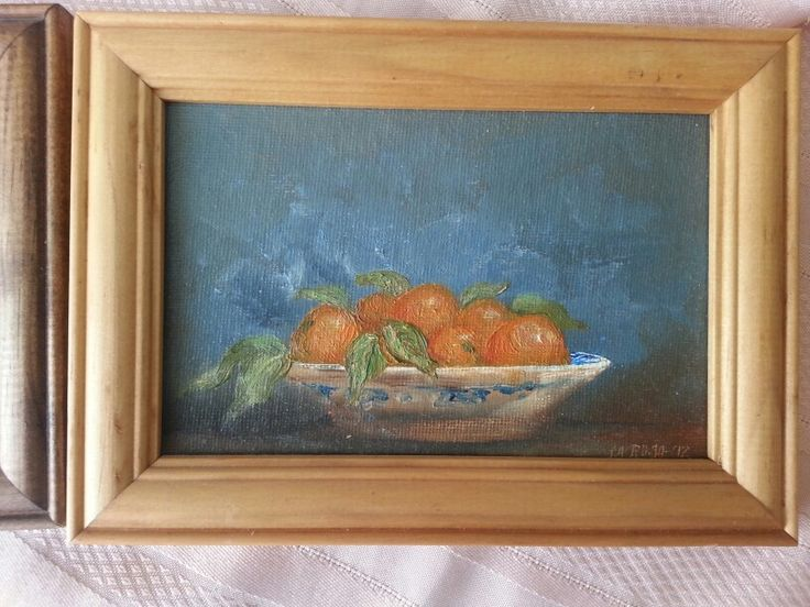 Clementinas  Oil on board 15x10 cms