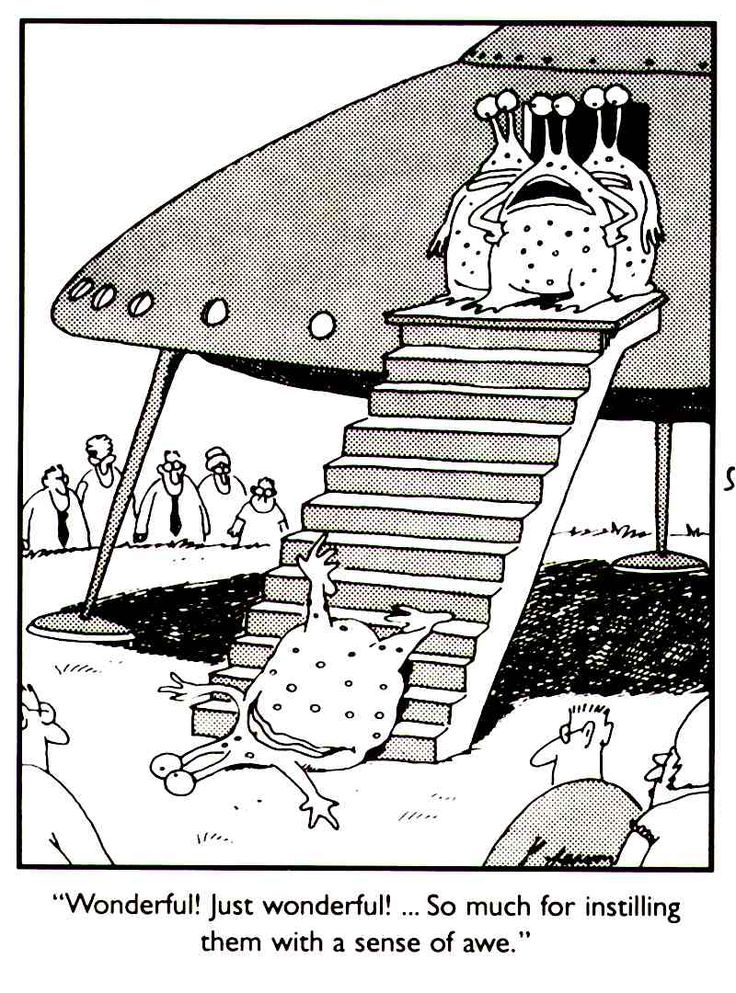 far side alien, far side outer space, far side UFO, ufo comic