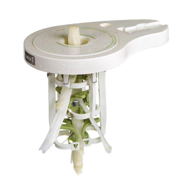 Lurch Obierak do szparagów automatyczny. Sezon szparagowy już niebawem się zacznie, prezentujemy urządzenie, które przymocowane do blatu, ułatwia obieranie szparagów.