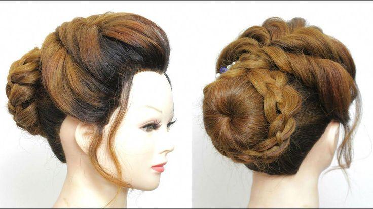Neue Brötchen-Frisur für Mädchen. Hochsteckanleitung für den Hochzeitsabschlußball - YouTube #promhairupdotutorial