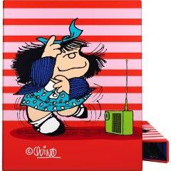 Carpeta anillas A5 Mafalda Rayas de Grafoplas