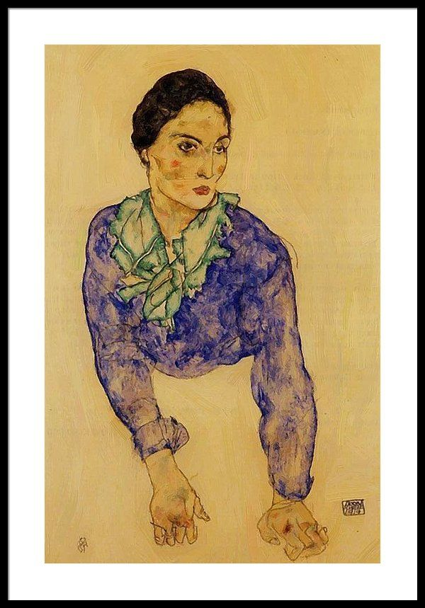 Female Act by Egon Schiele Giclee Fine ArtPrint Reproduction on Canvas