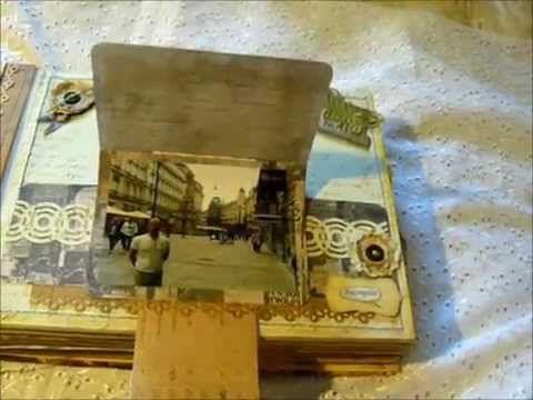 scrapbooking Travel album , скрапбукинг альбом путешествий