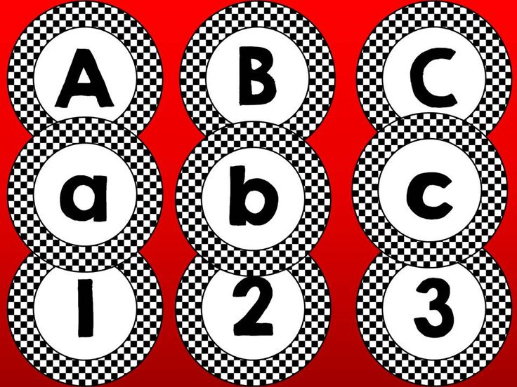 Black and White Checked Word Wall Headers and Alphabet Labels, perfect for a race car theme--checkered flag! Classroom Decor, $
