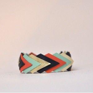 Bracelet Géométrique Cuir - annelison.fr