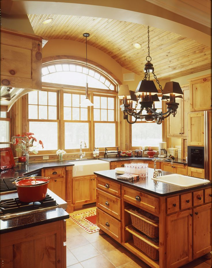 The massive bay window above the old-fashioned sink floods the entire kitchen with generous amounts of sunlight all throughout the day. Plan 072S-0001 | houseplansandmore.com