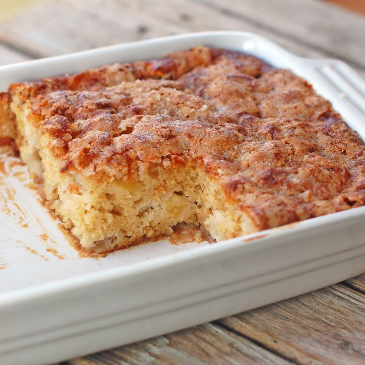 Cinnamon Sugar Apple Cake - Have to make it. Looks so good.
