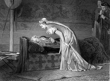 Marcus Stone, Lear and Cordelia (1874)
