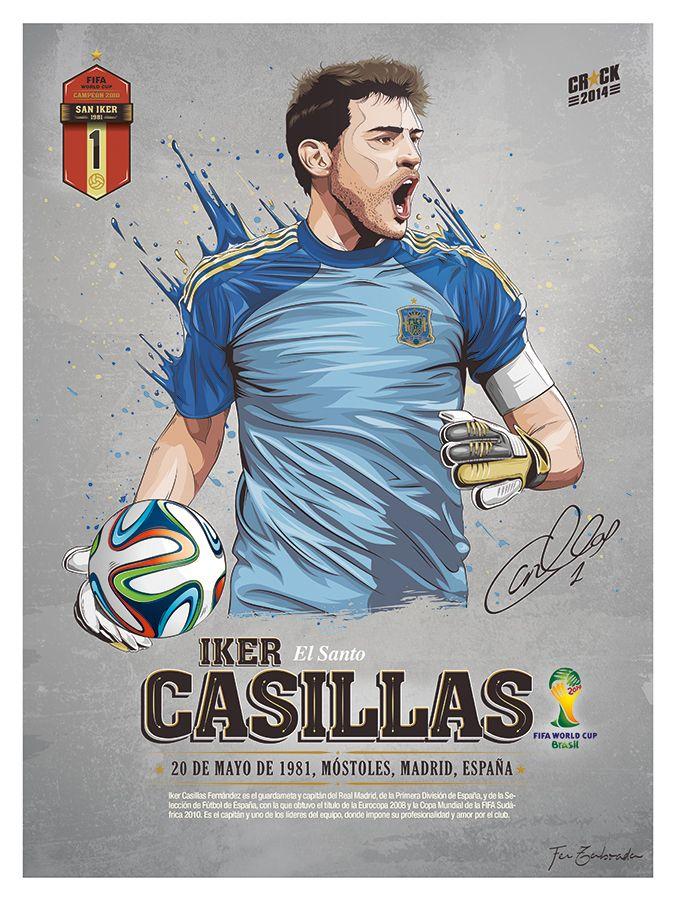 Ilustraciones de los principales futbolistas que participaran en el Mundial de Fútbol de Brasil.