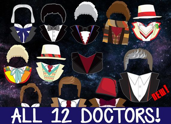 Doctor Who Photobooth Prop Printables ALL 12 by PanicPrintables
