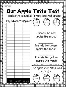 Apple Unit FREEBIES ... Apple Taste Test, Apple Vocabulary, Label the Apple, Apple Life Cycle, Interactive notebook!