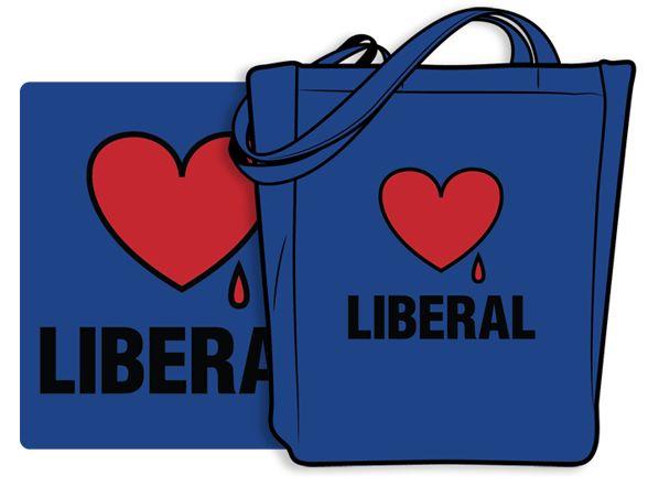 Bleeding Heart Liberal Tote