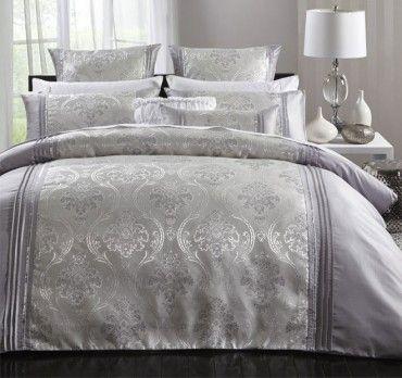 Rosalind Quilt Cover Set Range Silver