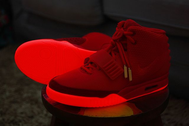 Trainers glowing