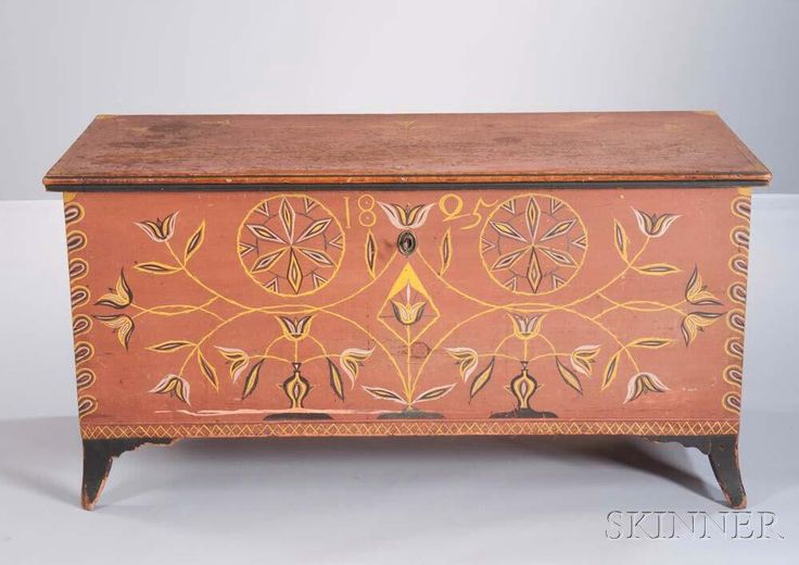 Paint-decorated Blanket Chest, Centre County, Pennsylvania, early 19th century,
