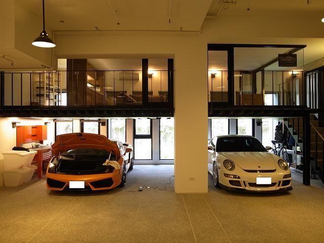 136 best epic garages images on pinterest garage for Loft car