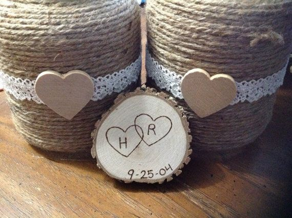 50 Rustic wedding favor magnets barn wedding by SunshinesSurprises