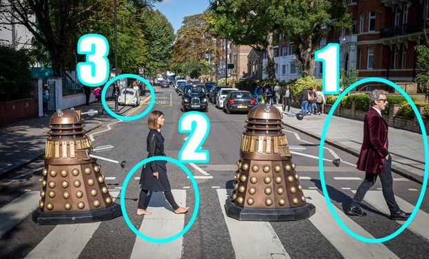 Doctor Who does the Beatles – but does this picture prove Clara Oswald will die? <--- crazy article!!