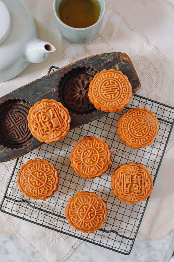 33 best chinese new year recipes images on pinterest chinese food lotus mooncakes with salted egg yolks forumfinder Choice Image