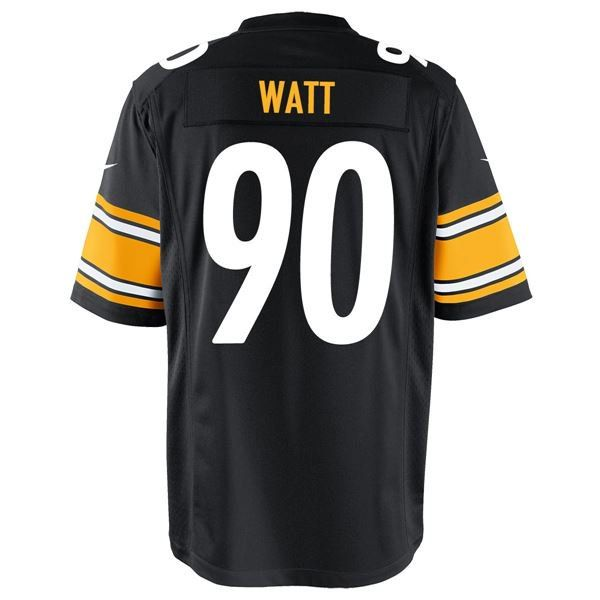 Picture of Pittsburgh Steelers Nike 2017 First Round Draft Pick #90 T.J. Watt Replica Home Jersey