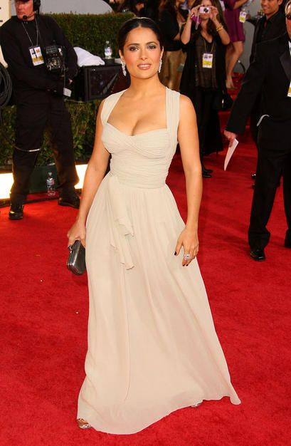Salma Hayek in Dior - Would love this for my wedding dress.