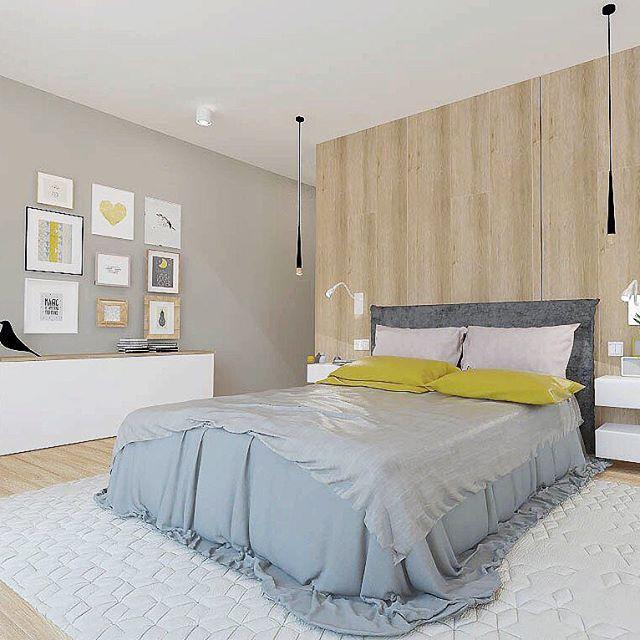Серая теплая и уютная спальня,жду когда уже панели будем монтировать #arkush